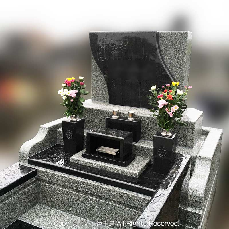 宮城県仙台市のお墓施工例(インド産クンナムE+アーバングレー)