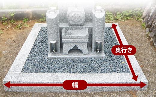 墓石の敷地サイズ