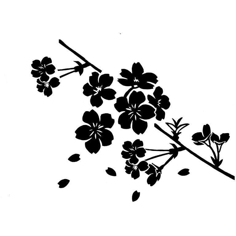 墓石紋様彫刻 桜