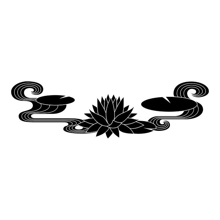 墓石紋様彫刻 蓮
