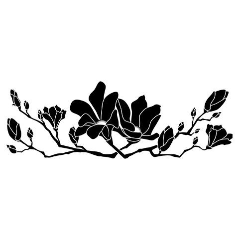 墓石紋様彫刻 白木蓮