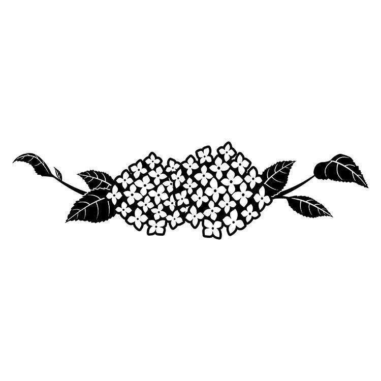 墓石紋様彫刻 紫陽花