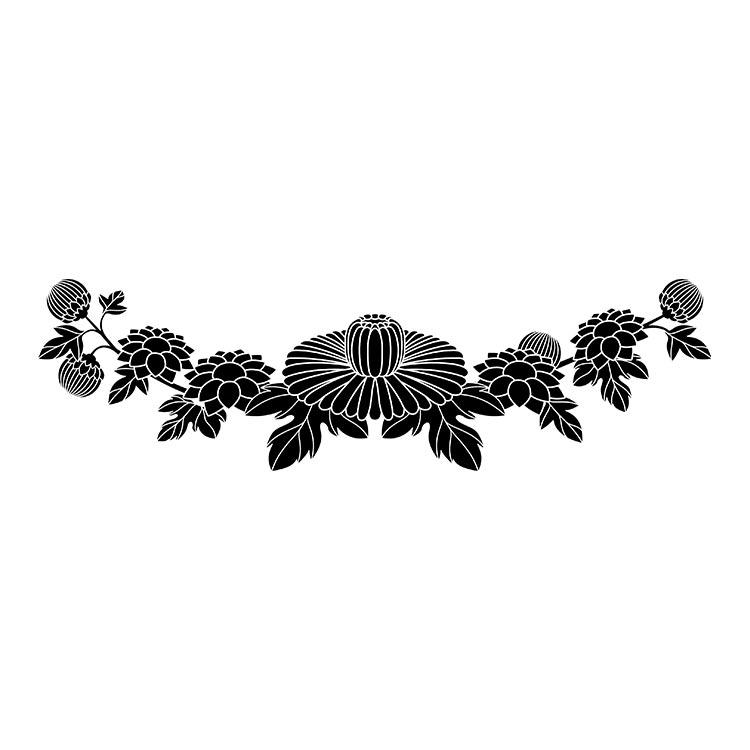 墓石紋様彫刻 菊