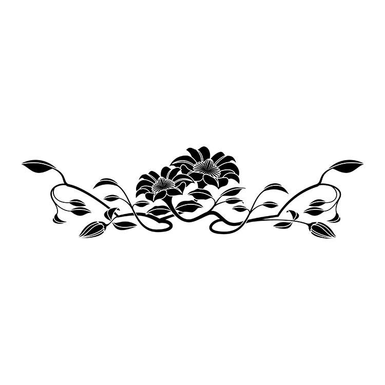 墓石紋様彫刻 鉄線