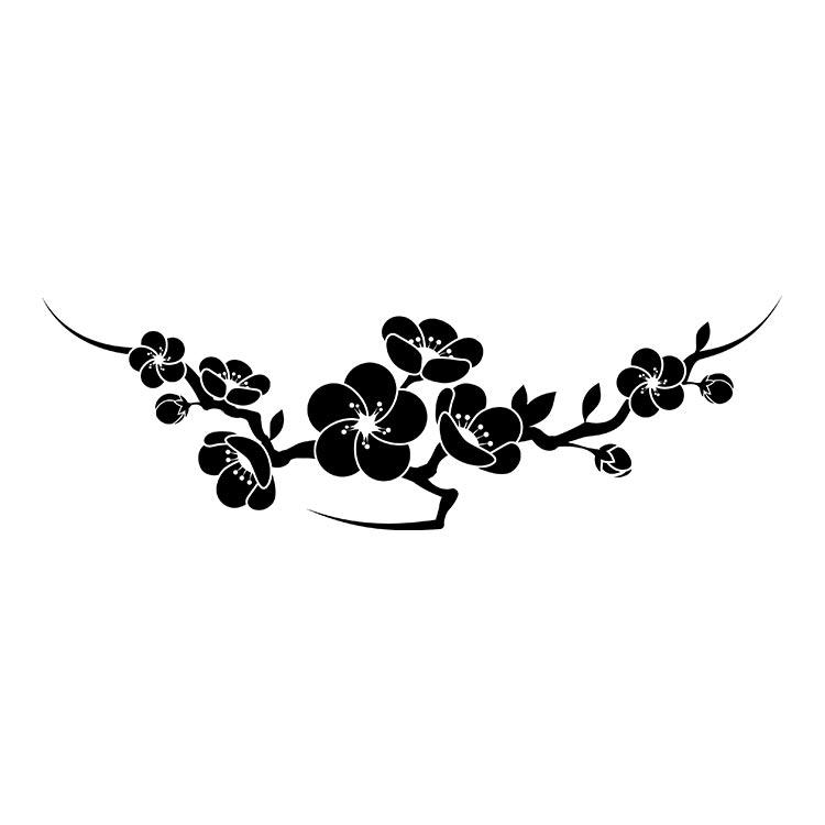 墓石紋様彫刻 梅
