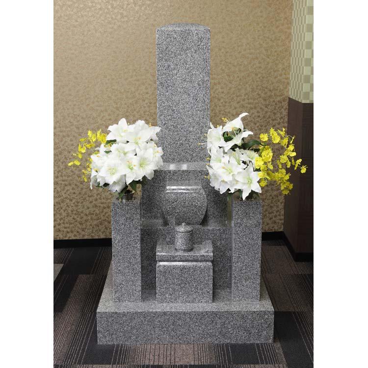 墓石 京都8寸3重台標準型 国産 大島石1級