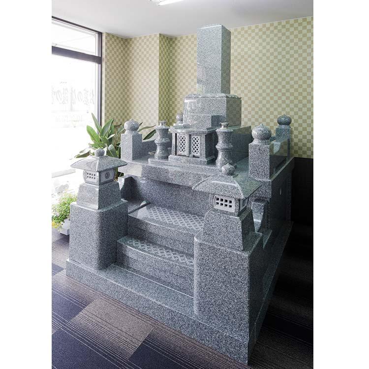 墓石 九州型9寸舞台付 インド産 アーバングレー