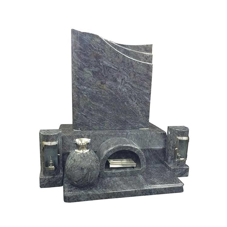 洋風墓石 インド産 バハマブルー