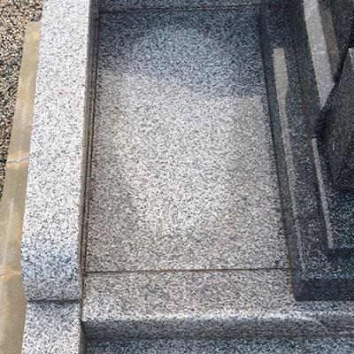 中国墓石材 g614 排水が悪い