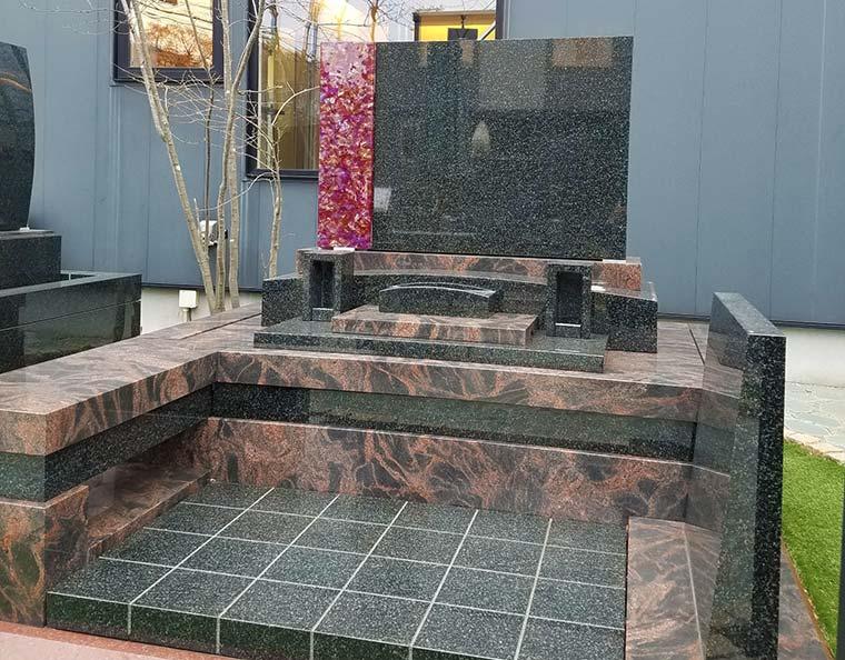 デザイン墓石 トパーズ アートガラス