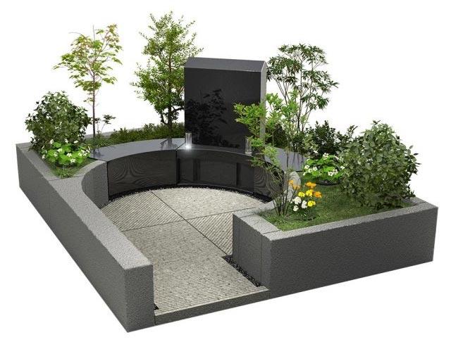 デザイン墓石 墓庭 えん